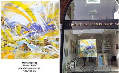 signet contemporary art, london, chelsea, art, mina george, bright, abstract, 2015